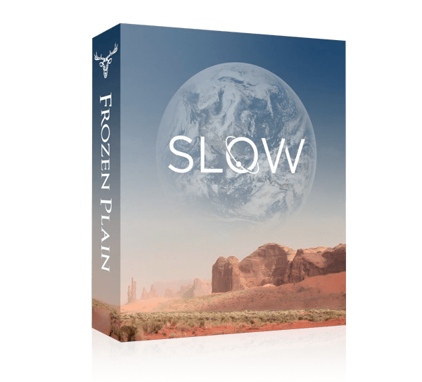 slow by frozen plain