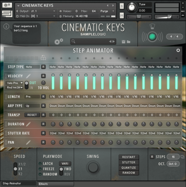 Cinematic Keys by Sample Logic
