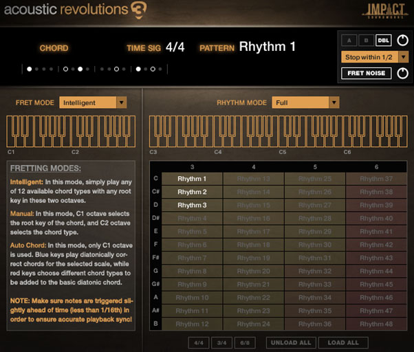 acoustic revolutions 3 interface