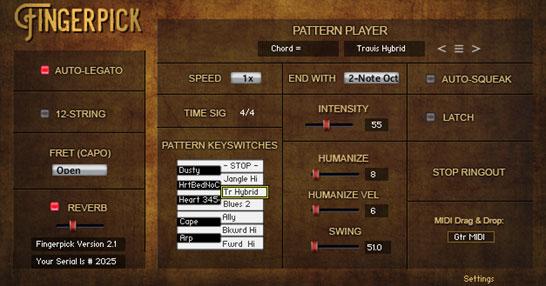 fingerpick interface