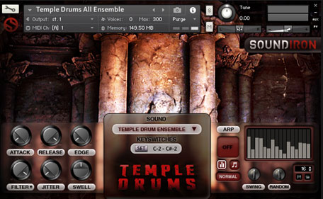 temple drums interface