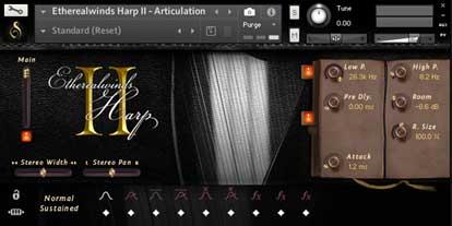 etherealwinds harp 2 interface