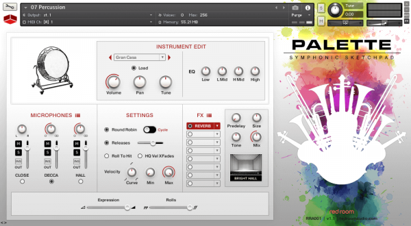palette symphonic sketchpad - red room audio
