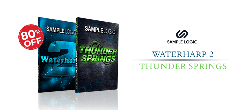 waterharp 2 and thunder spring bundle by sample logic