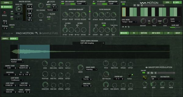 pad motion 3.0 by sample fuel